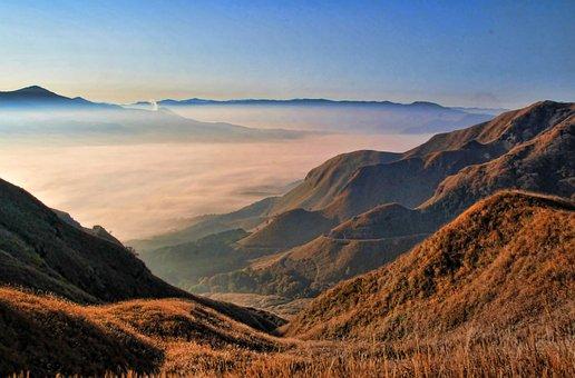 Aso, Kumamoto, Japan, Somma, Sea Of Clouds, Volcano