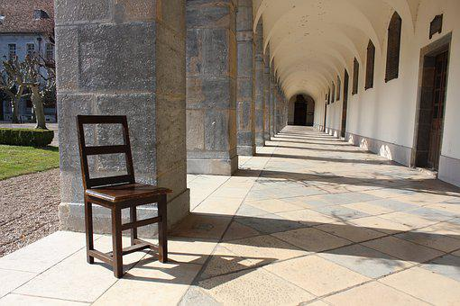 Chair, Outdoor, Photo, Hospital, France, Landscape