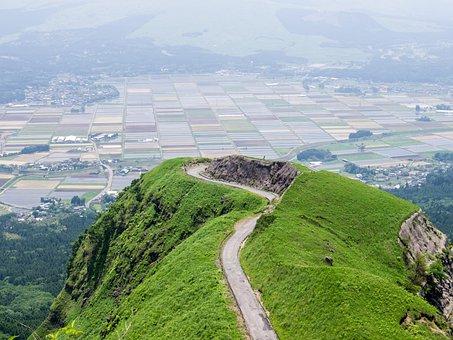 Aso, Japan, Kumamoto, Somma, Laputa Road