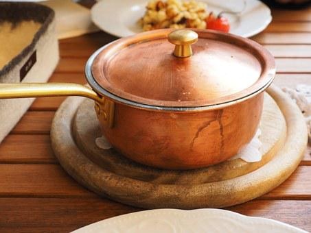 Pot, Brass Pot, Eat, Court, Main Course, Substantial