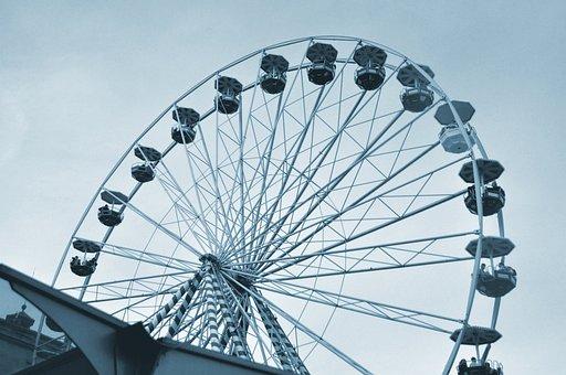 Ferris Wheel, Games, Fairground, Manege, Attraction
