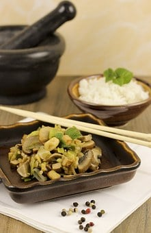 Tofu, Mushrooms, Fry Up, Mushroom, Meal, Tasty, Lunch