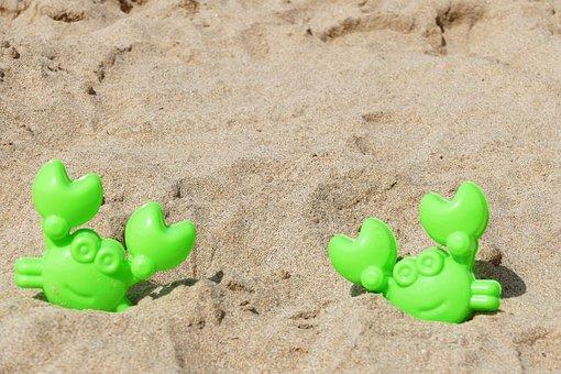 Beach, Crab, Toy, Nature, Sand, Sea, Coast, Summer