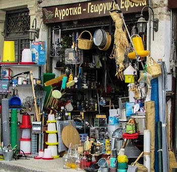 Retail Store, Shop, Commerce, Products, Old Town, Volos