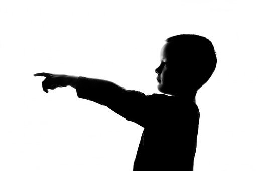 People, Child, Boy, Face, Shadow, Pointing, Finger