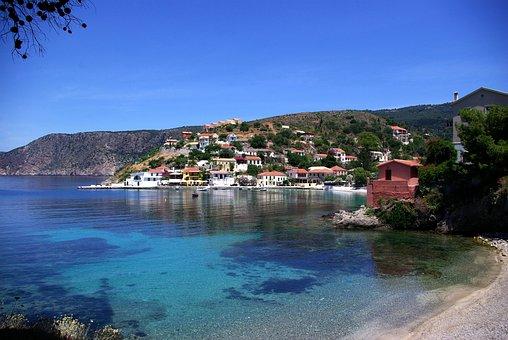 Sea Bay, Assos Village, Island Of Kefalonia, Greece