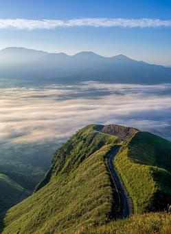 Japan, Kumamoto, Caldera, Cloud, Sea Of Clouds, Aso