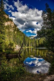 Lizard Lake, Colorado, Reflections, Sky, Clouds