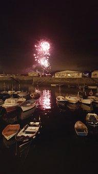 Firework, Fuegos Atificiales, Cantabria, Spain