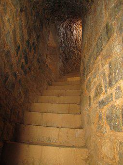 Guédelon, Staircase, Tower, Pierre, Medieval, Castle