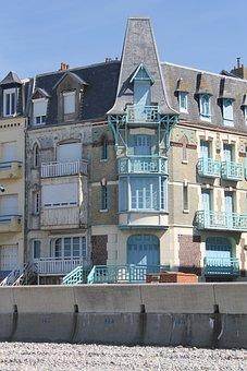 Cayeux, Bay Sum, Sea, Beach, Typical Houses