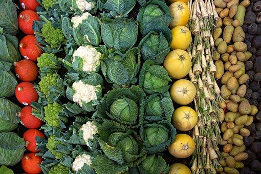 Vegetables, Cauliflower, Cabbage, Pumpkin, Parsley