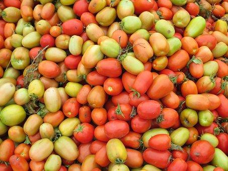 Tomatoes, Red, Green, Vegetables, Fruit, Vegetable