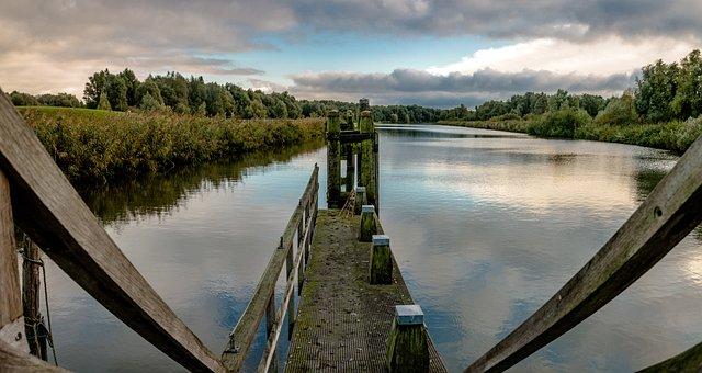 Canal, Sluice, Lock, Water, Landscape