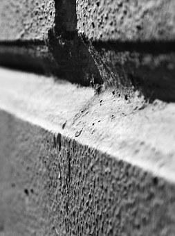 Wall, Black And White, Macro, B W Photography, White