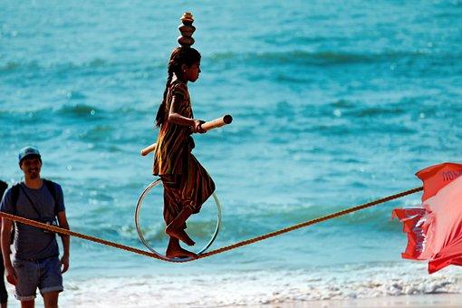 Goa, Anjuna, India, Travel, Asia, Beach, Entertainers