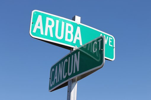 Aruba, Cancun, Street, Intersection