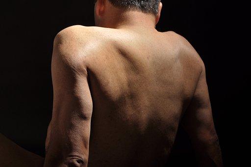 Man, Naked, Back
