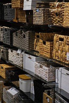 Baskets, Wicker, Woven, Basket, Decorative