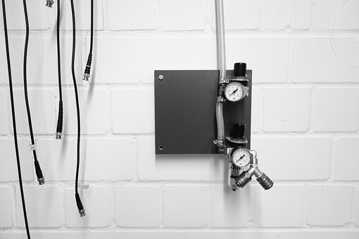 Valve, Ad, Scale, Cable, Black And White, Technology