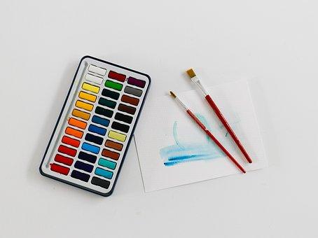 Paints, Hobby, Artist, Painter, Painting, Brush