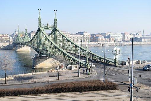 Bridge, Budapest, Hungary, Danube, River, City