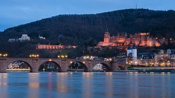 Heidelberg, Castle, Historically, Fortress, River