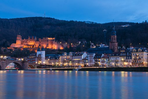 Heidelberg, Castle, Neckar, Historically