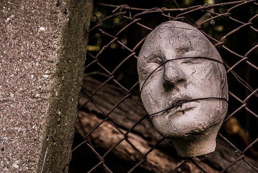 Face, Cement, Sculpture, Mold, Plaster, Mute
