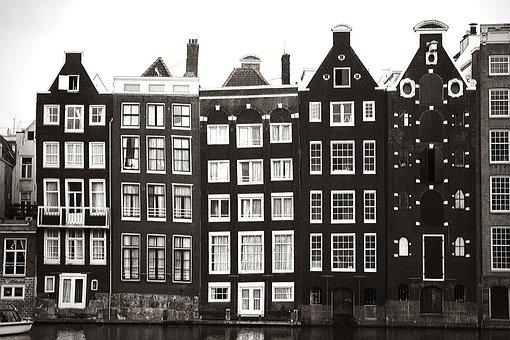 Amsterdam, Vintage, Retro, City, Holland