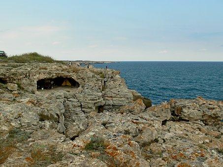 Tyulenovo, Bulgaria, Rocks, Coast, Water