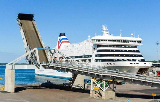 Cruise, Liner, Cruise Liner, Sea, Ladder, Track, Pierce