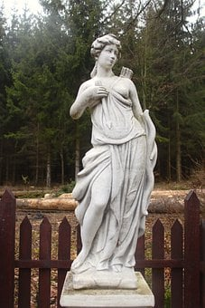 Diana, The Statue, Sculpture, Figure, Goddess, Hunting