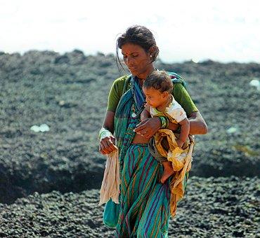 Goa, Anjuna, India, Travel, Asia, Beach, Saleswoman