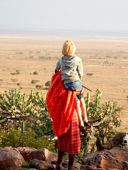 Practice, Child, Landscape, Hiking, Kenya