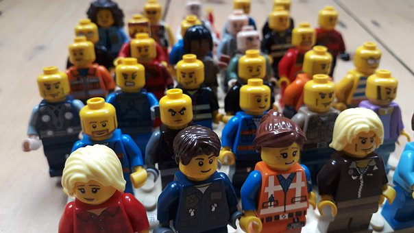 Lego, People, Crowd, Figures, Person, Colorful, Group