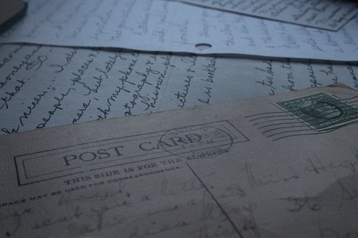 Letters, Post Card, Writing, Stamp, Letter, Mail, Old