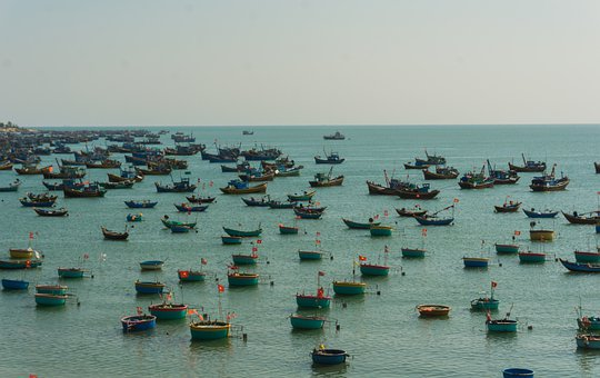 Loads, Boats, Mui Ne, Fishers, Fishing, Ship, Trade