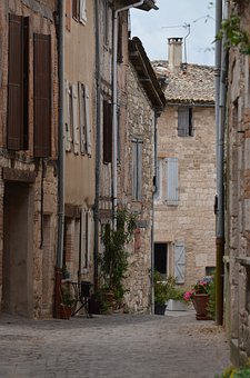 France, Medieval, Architecture, Street