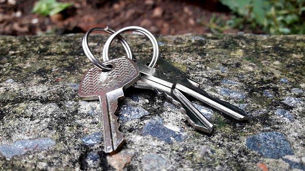 Key, Door, Gate, Brazil, Metal, Silver, Wood, Three
