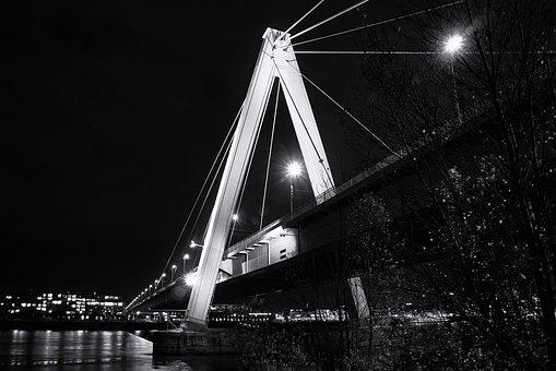 Cologne, Bridge, Night, Lzb, Rhine, Sw