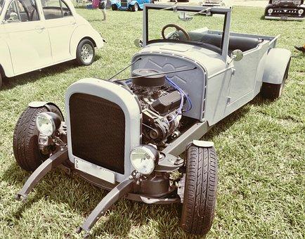 Dragster, Racer, Roadster, Compact, Nostalgia, Vintage
