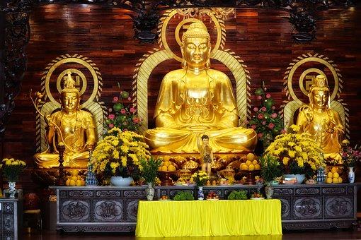 Vietnam, Buddhism, Altar, Pagoda, Buddha
