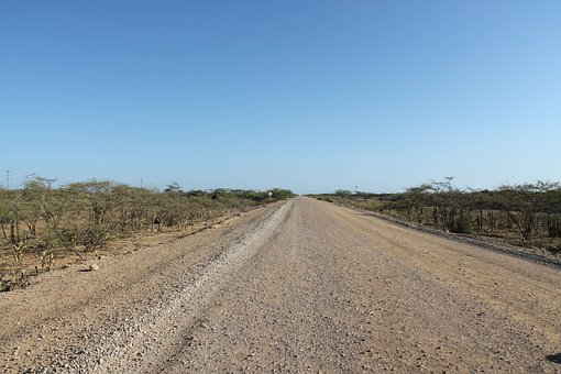 Guajira, Colombia, Road, Way Uncovered