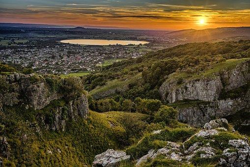 Cheddar Gorge, Sunset, Landscape, Scenic, Tourist