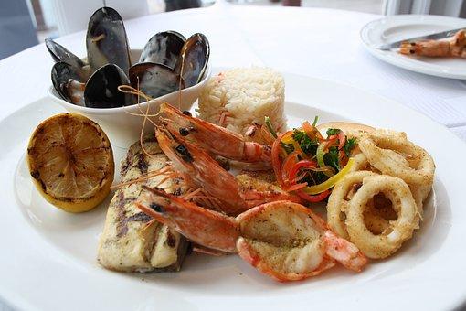 Seafood, Platter, Eat, Restaurant, Meal