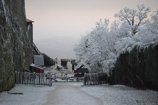 Snow, Castle, Medieval, Winter, Nature