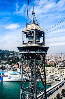 Barcelona, Cable Car, World's Fair, Barca, Spain, City