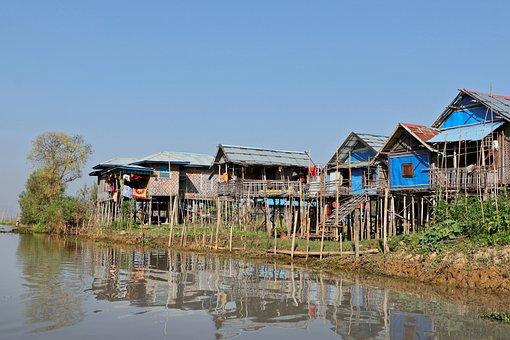 Stilt, Lake Inle, Burma, Myanmar, Landscape, Lake