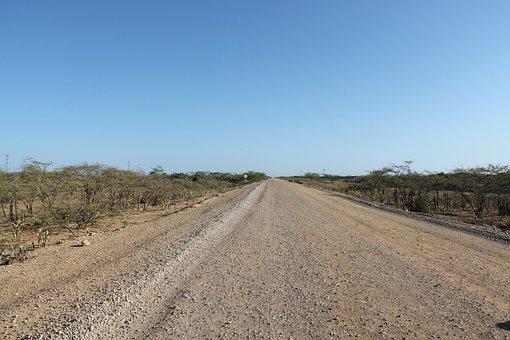 Guajira, Colombia, Road, Way Uncovered, Via